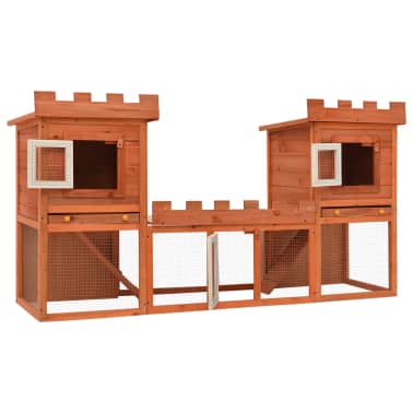 Outdoor Large Rabbit Hutch House Pet Cage Double House[3/9]