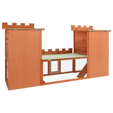 Outdoor Large Rabbit Hutch House Pet Cage Double House[5/9]