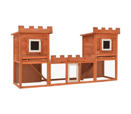 Outdoor Large Rabbit Hutch House Pet Cage Double House
