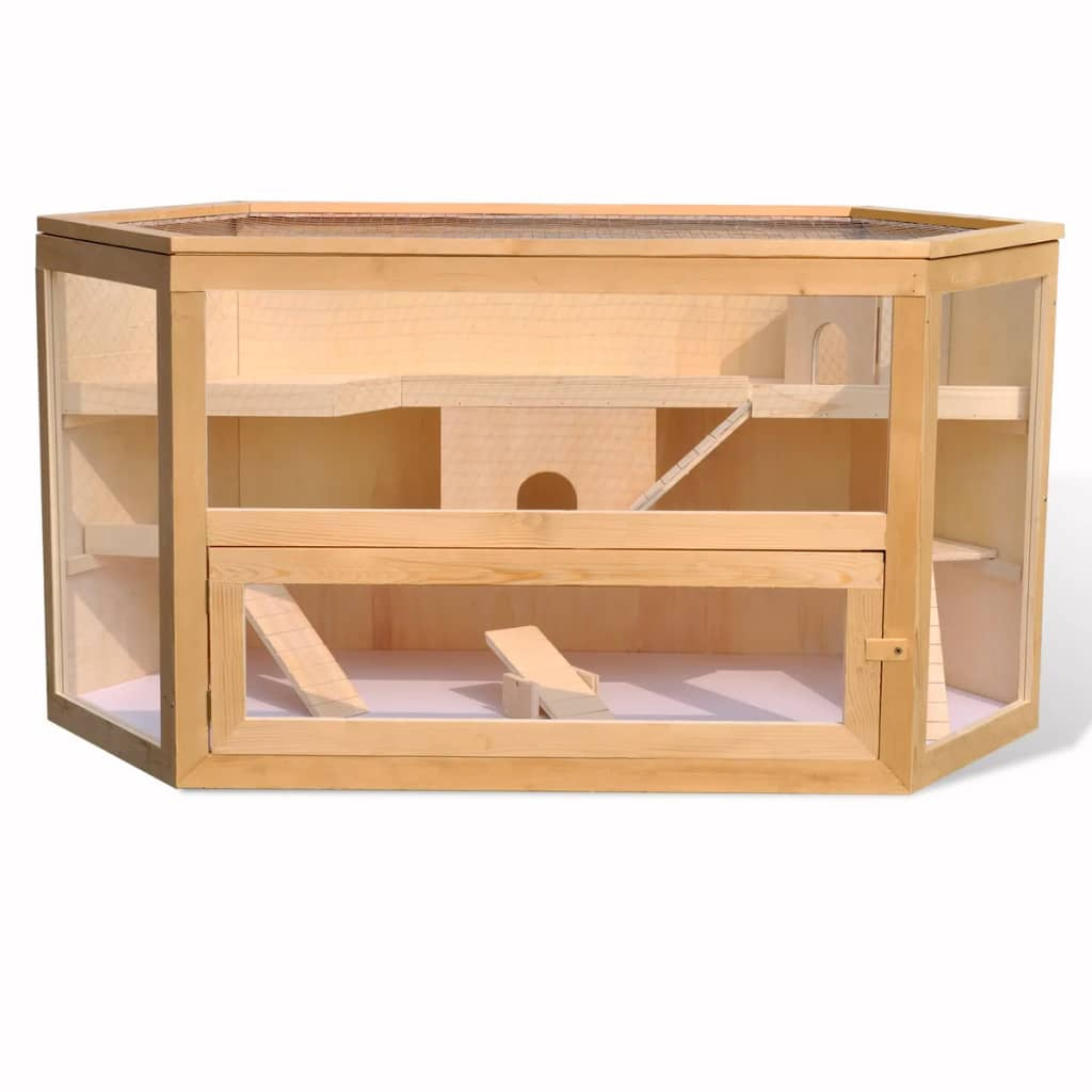 la boutique en ligne cage hexagonale pour hamster en bois. Black Bedroom Furniture Sets. Home Design Ideas