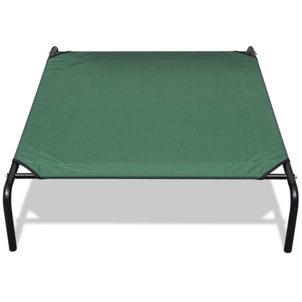 cama elevada para mascotas con marco de acero 130 x 80 cm
