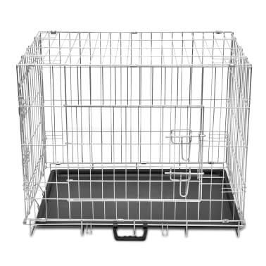 Skladacia kovová klietka pre psa, veľkosť L[2/5]