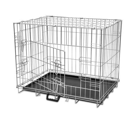 Skladacia kovová klietka pre psa, veľkosť L