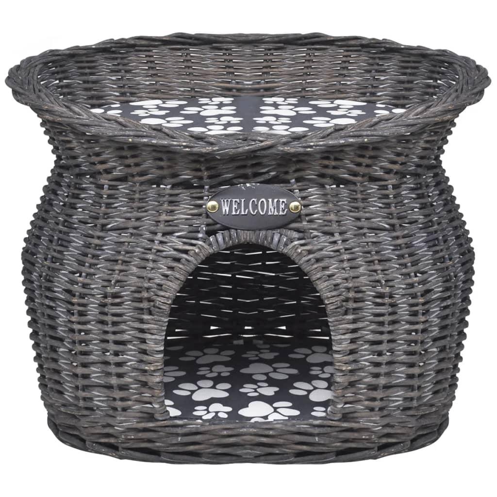 acheter niche en forme d 39 arbre chat avec griffoir et coussin en saule pas cher. Black Bedroom Furniture Sets. Home Design Ideas