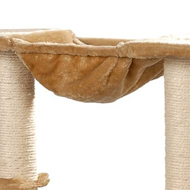 "Cat Tree 41"" Beige Plush[3/5]"
