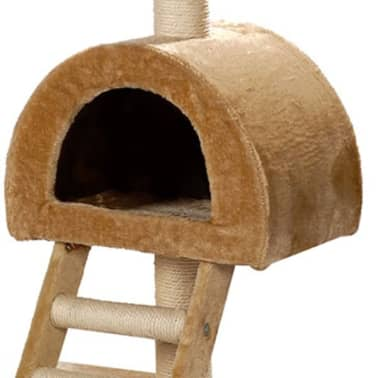 "Cat Tree 41"" Beige Plush[2/5]"