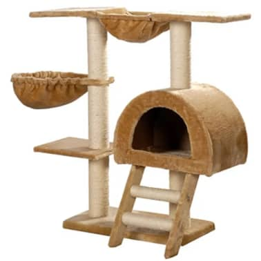 "Cat Tree 41"" Beige Plush[1/5]"