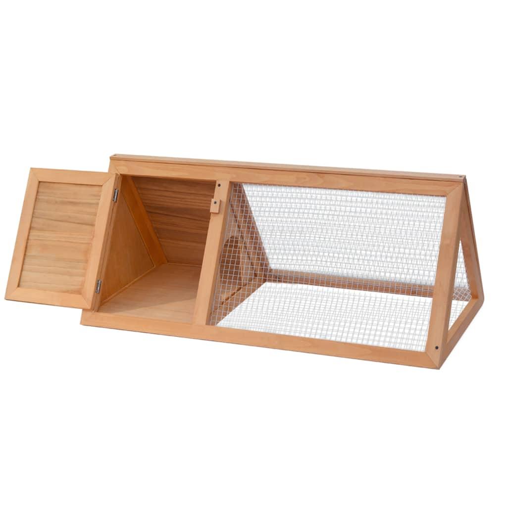 Vidaxl conejera madera de material madera de abeto con - Madera de abeto ...