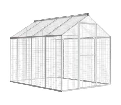 acheter vidaxl voli re d 39 ext rieur aluminium 178 x 242 x 192 cm pas cher. Black Bedroom Furniture Sets. Home Design Ideas