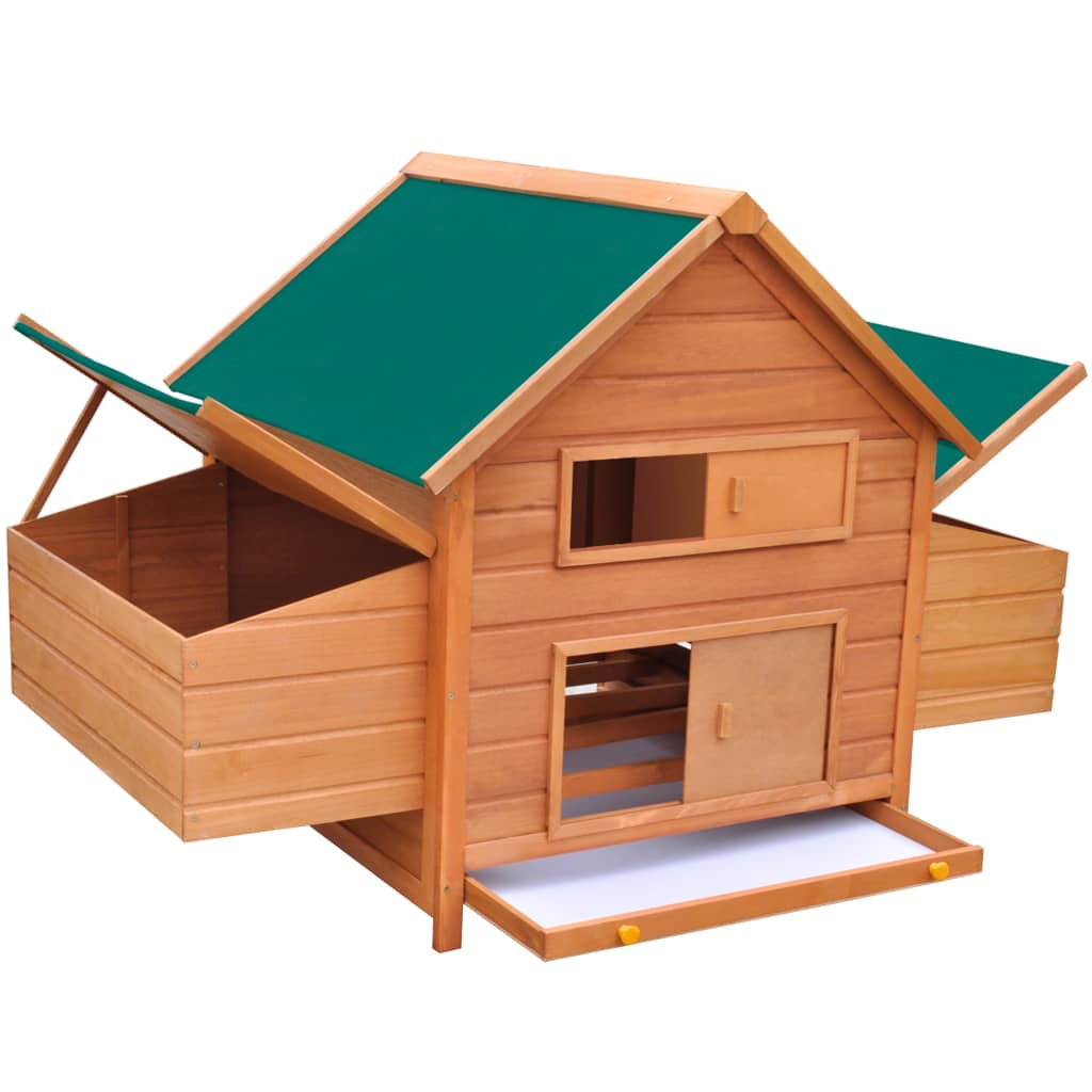vidaxl gallinero de madera 157x97x110 cm. Black Bedroom Furniture Sets. Home Design Ideas