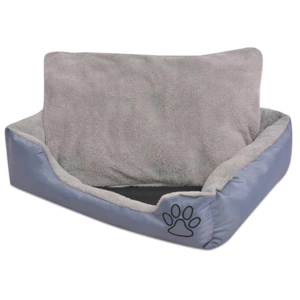 vidaxl hundebett mit gepolstertem kissen gr e s grau g nstig kaufen. Black Bedroom Furniture Sets. Home Design Ideas