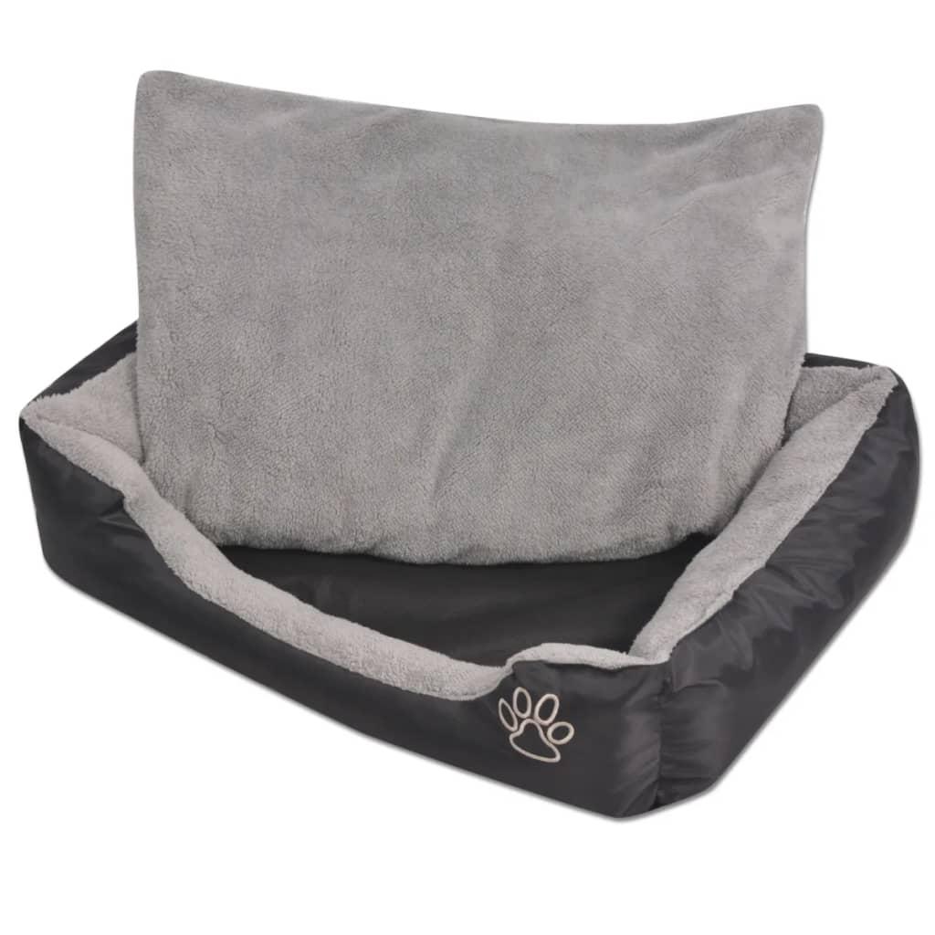 acheter vidaxl lit pour chiens avec coussin rembourr taille s noir pas cher. Black Bedroom Furniture Sets. Home Design Ideas