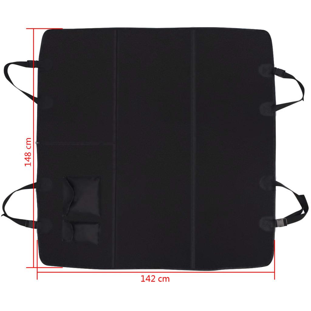 6 sur 8 vidaXL Housse de Siège Protection Auto pour Animaux 148 x 142 cm  Noir f147ecf5c06
