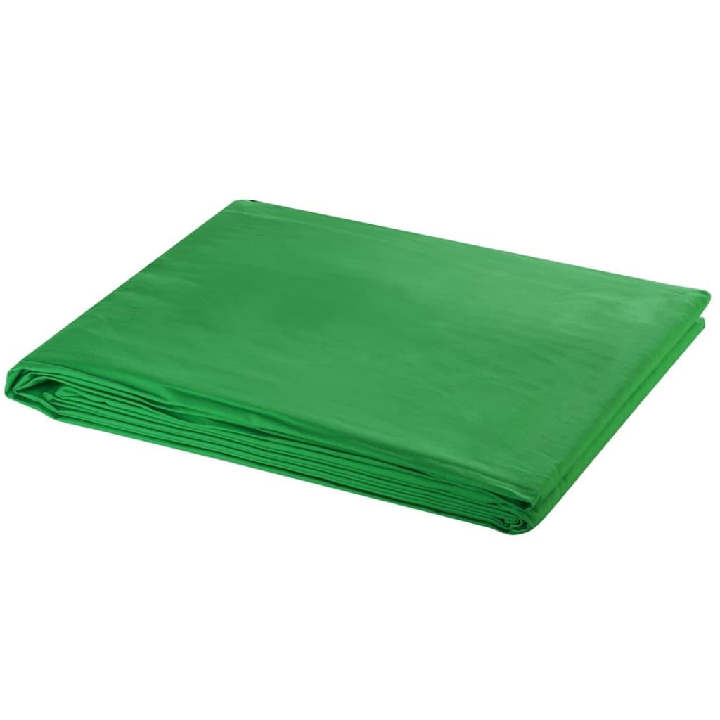 Afbeelding van vidaXL Achtergrond chromakey 600x300 cm katoen groen