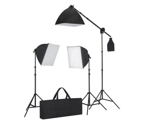 vidaXL Studioset met 3 fotolampen / statief / softbox