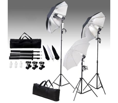 Studiobelysning 24 watt inkl stativ och paraplyer