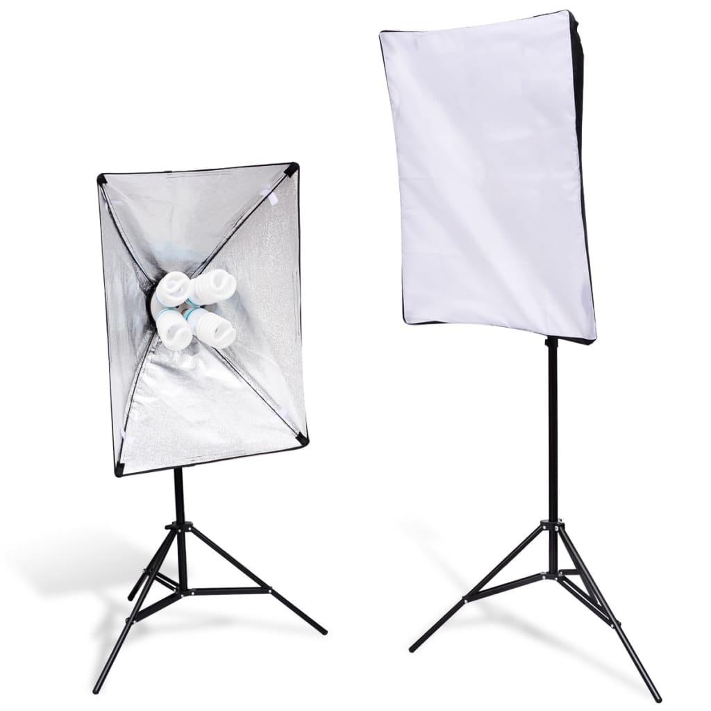 2x-Softbox-Foto-Synchronblitzlampe-Studioleuchte-Fotostudio-Set-8-x-105W-Lampen