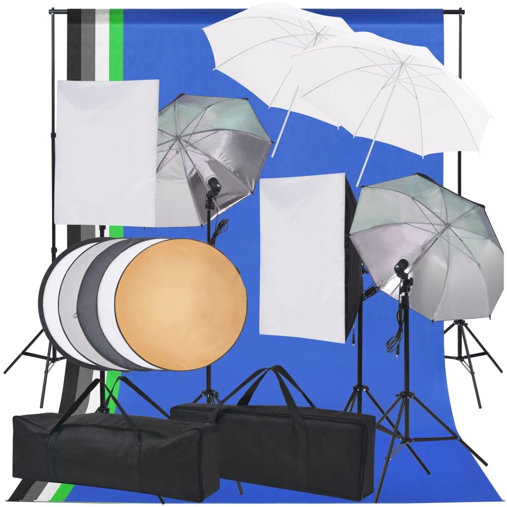 vidaXL fotó stúdió világítás szett
