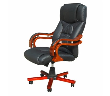 Bürosessel holz  Chefsessel Drehstuhl Bürostuhl Holz Stuhl Bürosessel Büro Sessel ...