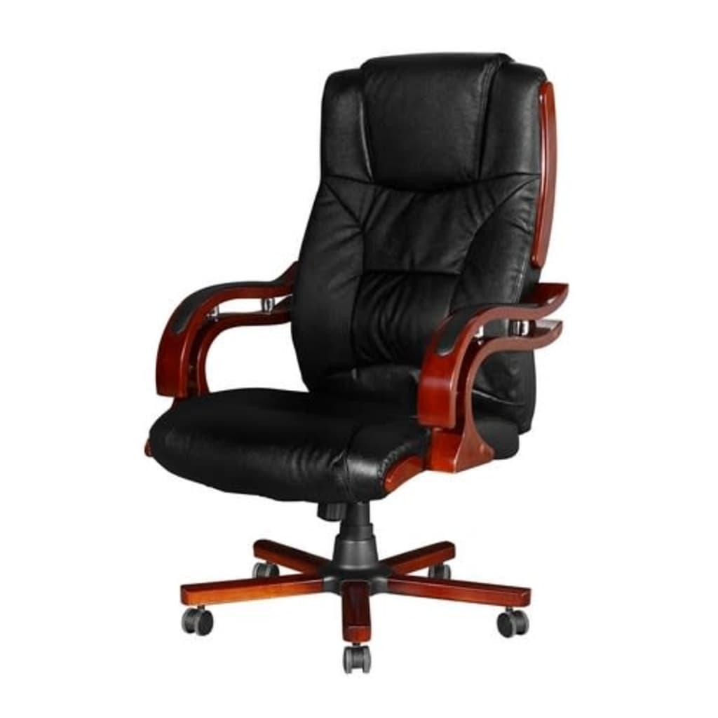 la boutique en ligne fauteuil direction cro te de cuir noir design r tro l. Black Bedroom Furniture Sets. Home Design Ideas