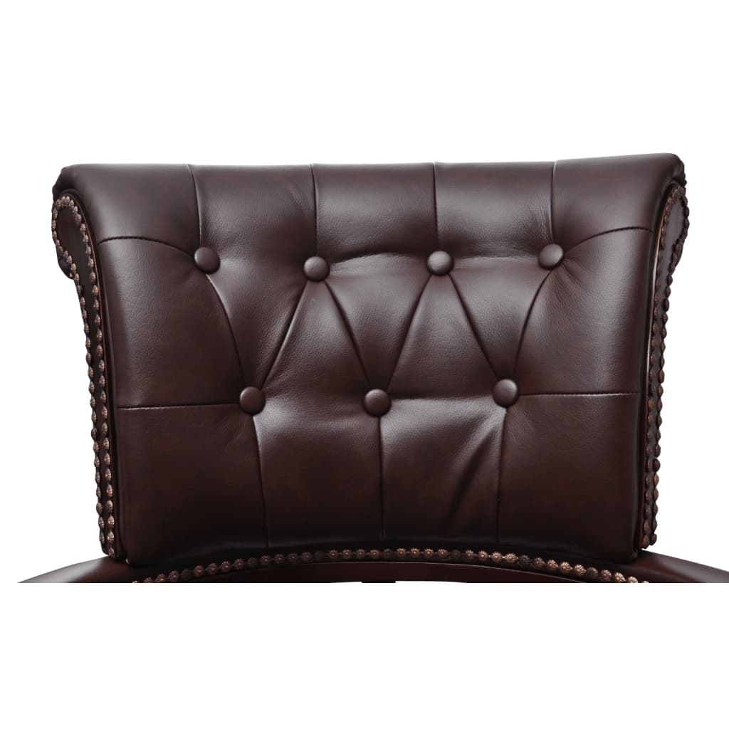 Chesterfield Captains Swivel Office Chair Brown Vidaxl
