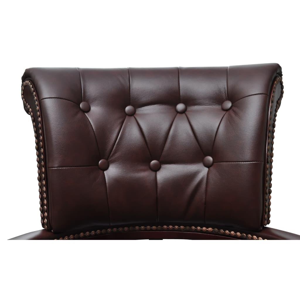 Acheter fauteuil en cuir m lang brun pas cher for Fauteuil en cuir