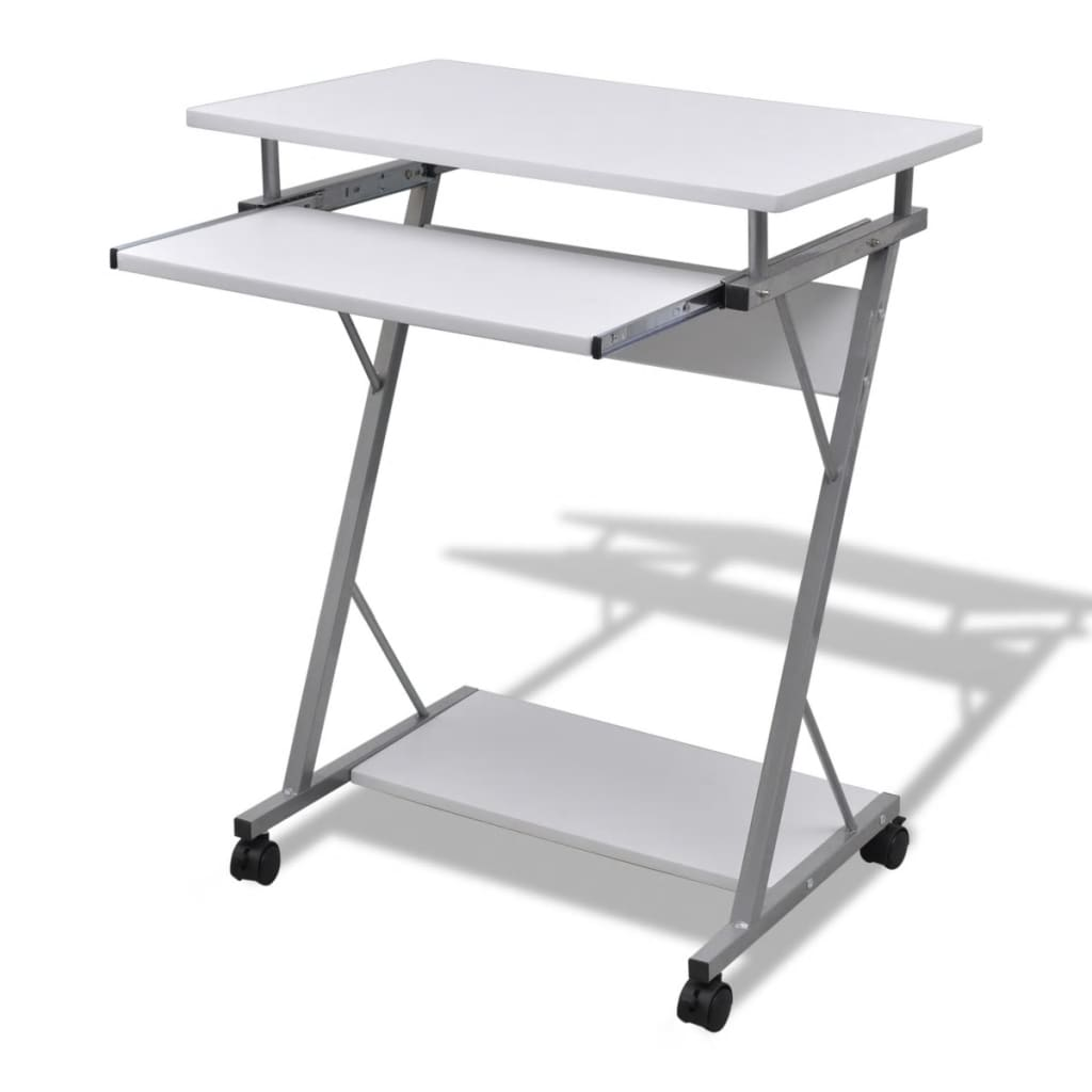 vida-xl-computer-desk-pull-out-tray-white-furniture-office-student-table