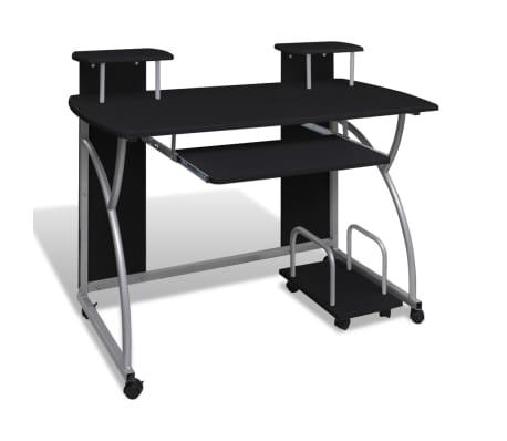 Multifunkční počítačový stůl černý
