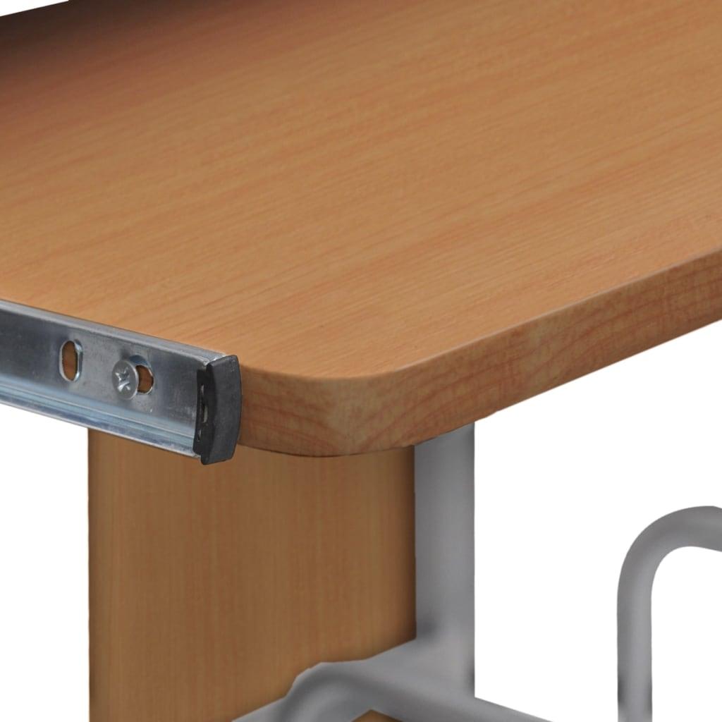 la boutique en ligne table de bureau brune pour ordinateur avec tag re. Black Bedroom Furniture Sets. Home Design Ideas