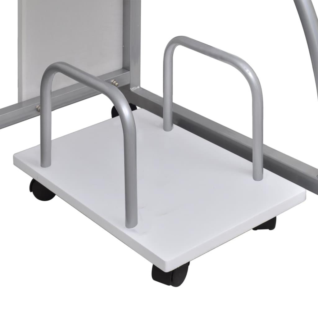 la boutique en ligne table de bureau blanche pour ordinateur avec tag re. Black Bedroom Furniture Sets. Home Design Ideas