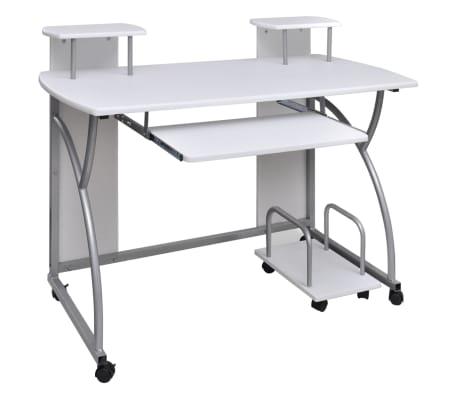 Multifunkční počítačový stůl bílý