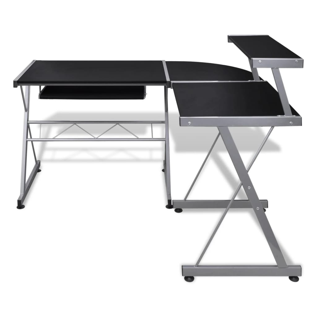 computer desk workstation with pull out keyboard tray black  -  computer desk workstation with pull out keyboard tray black