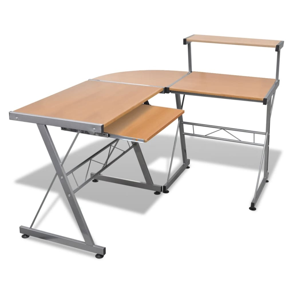 La boutique en ligne grande table de bureau brun pour for Table de bureau