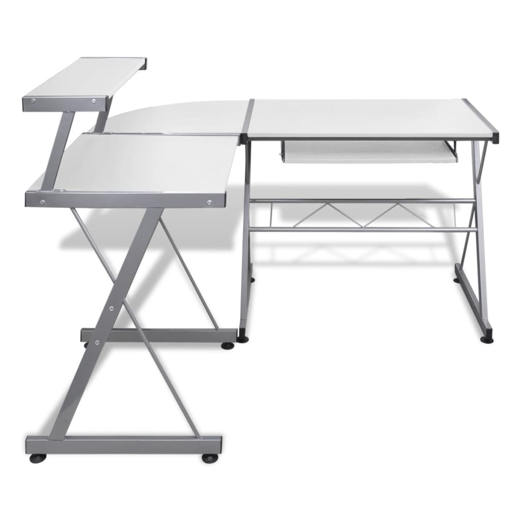 La boutique en ligne grande table de bureau blanche pour for Table bureau