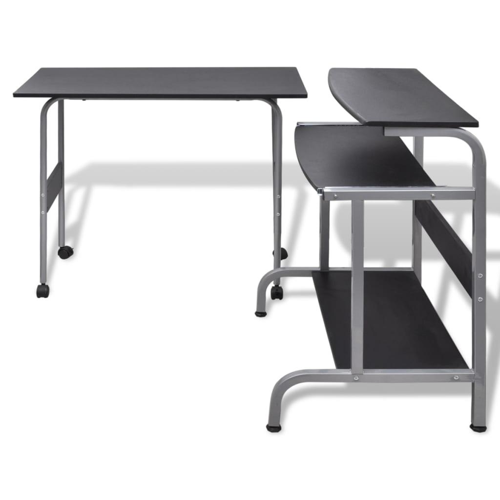 La boutique en ligne table de bureau r glable noire pour for Table bureau