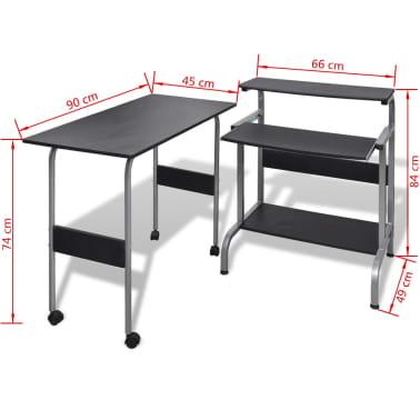 La boutique en ligne table de bureau r glable noire pour for Bureau informatique solde