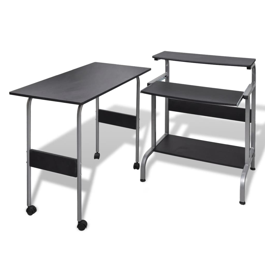 vida-xl-computer-desk-adjustable-workstation-black