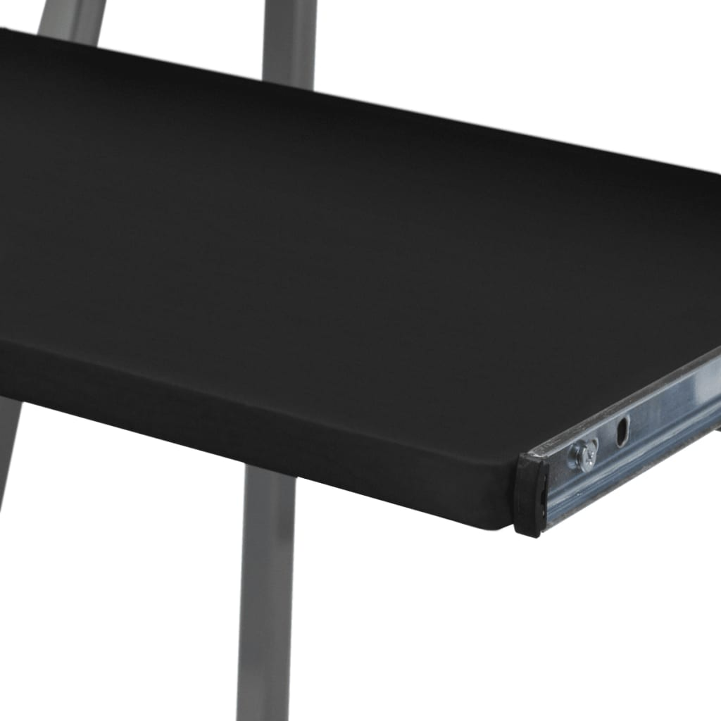 Vidaxl Co Uk Computer Desk With Pull Out Keyboard Tray Black