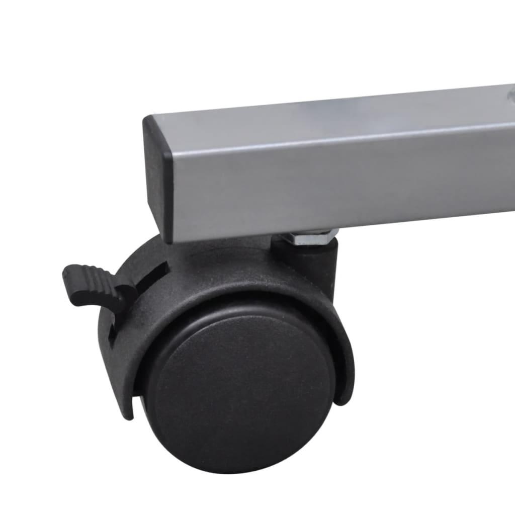 La boutique en ligne table de bureau noire pour ordinateur for Bureau sur roulettes pour ordinateur