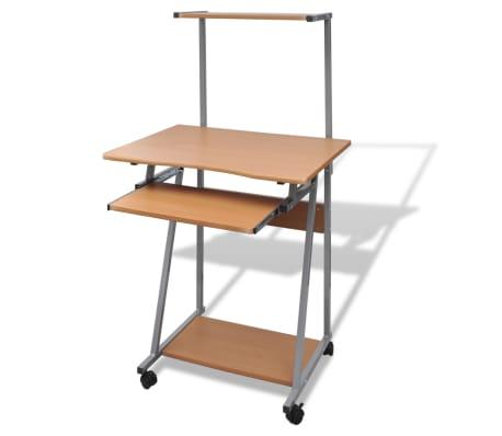 Počítačový stůl s výsuvnou deskou hnědý