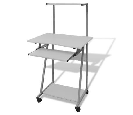 Počítačový stůl s výsuvnou deskou bílý