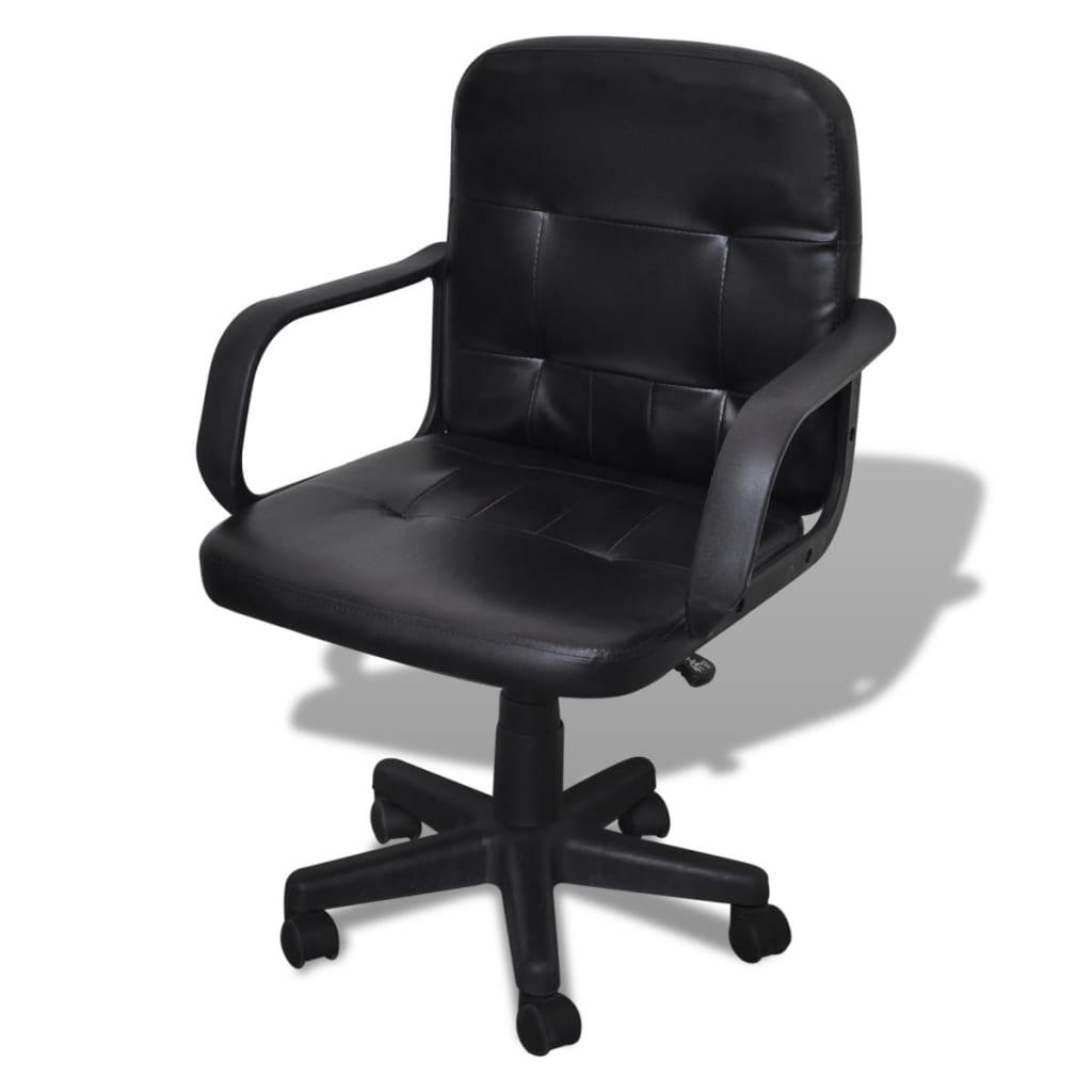 Articoli per Sedia ufficio in pelle nera design esclusivo 59 x 51 x 81-89 cm  vidaXL.it