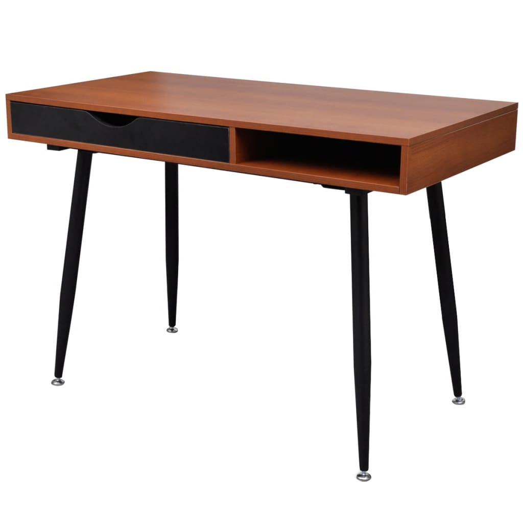 vidaXL.co.uk | Brown Workstation Computer Desk Laptop Table