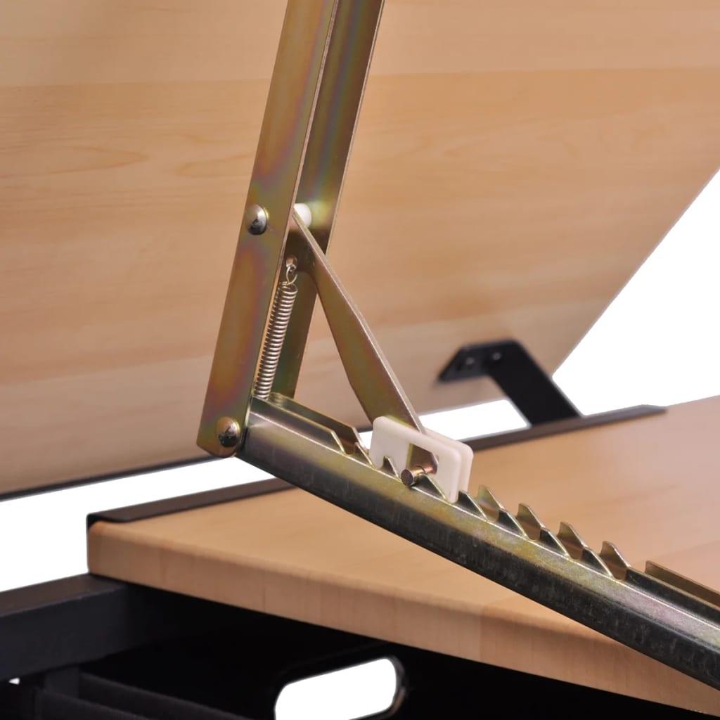 kippbarer zeichentisch arbeitstisch f r zeichner mit stuhl. Black Bedroom Furniture Sets. Home Design Ideas