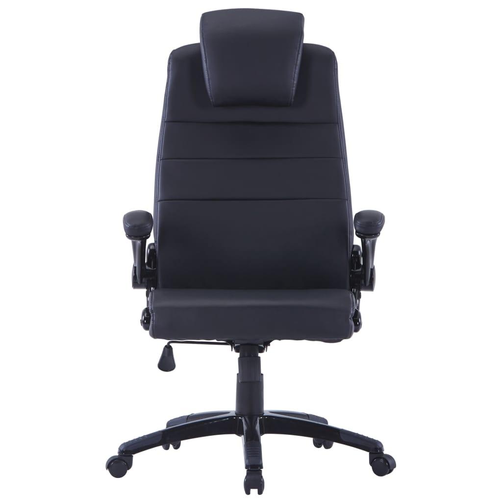 acheter chaise pivotante r glable avec accoudoir en cuir artificiel noir pas cher. Black Bedroom Furniture Sets. Home Design Ideas