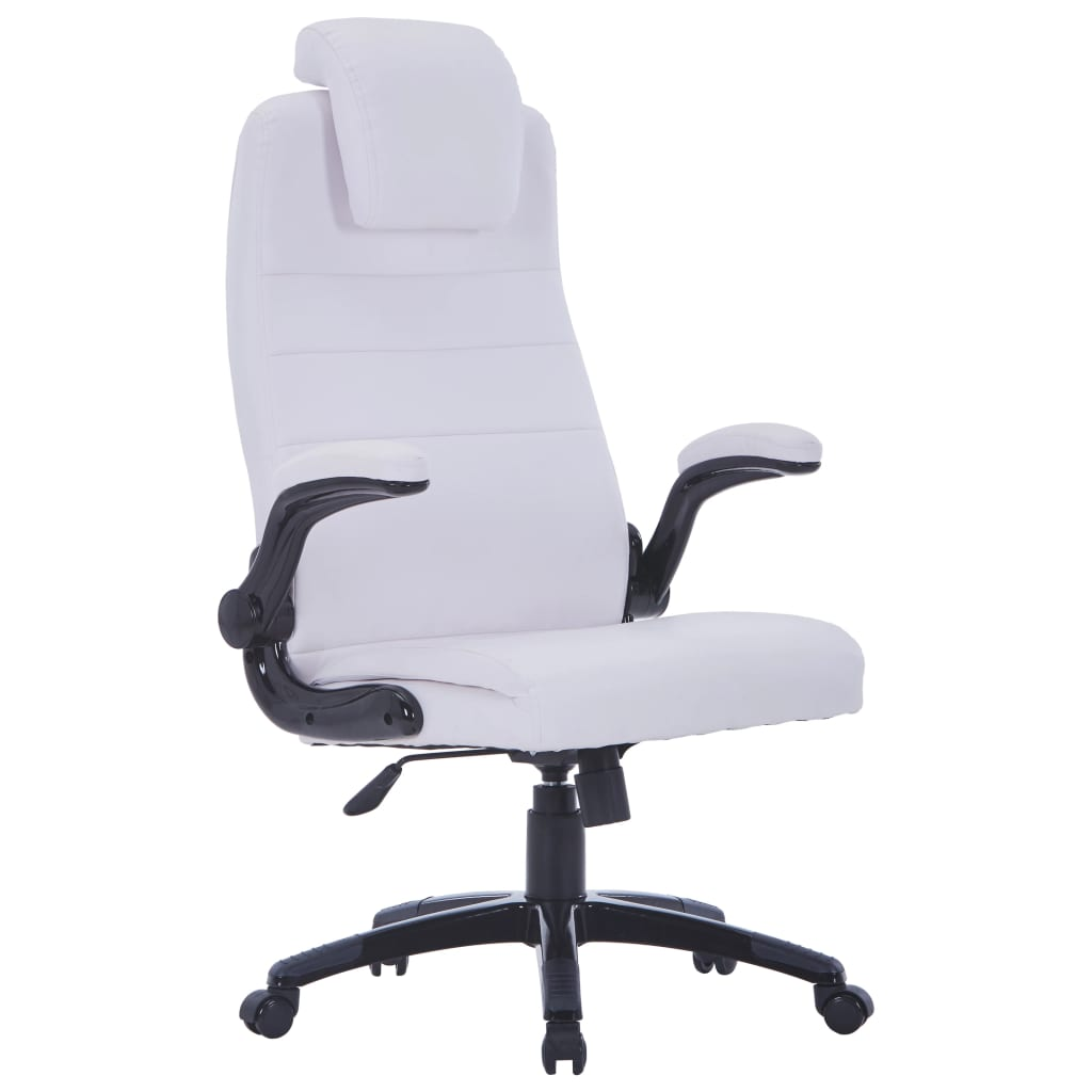 white leather swivel armchair white artificial leather swivel chair adjustable www 22013 | image