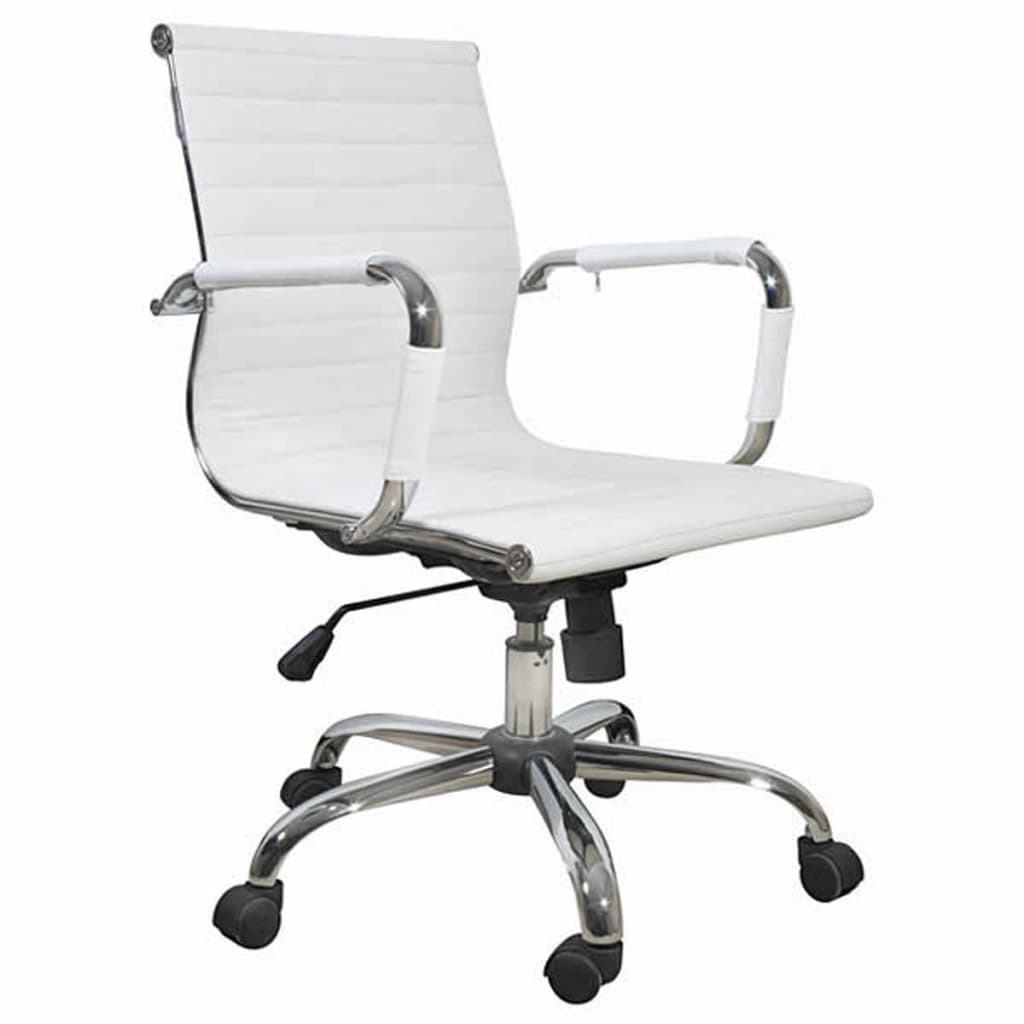 white leather desk chair white leather office chair vidaxl com 21991 | image