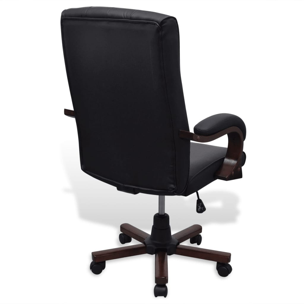 Chesterfield Office Chair Artificial Leather Black