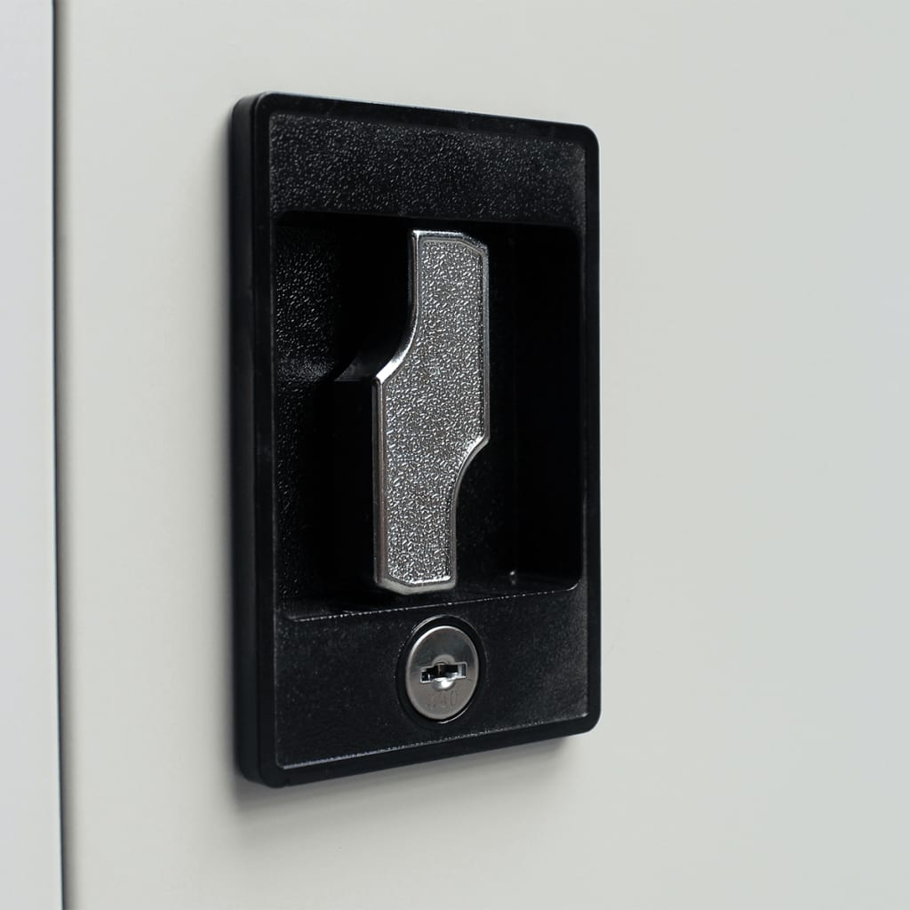 acheter armoire m tallique de bureau avec 2 portes 90 cm gris pas cher. Black Bedroom Furniture Sets. Home Design Ideas