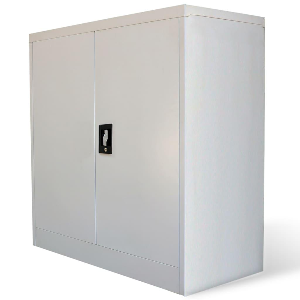 Curso De Artesanato Na Zona Sul Sp ~ vidaXL pt Armário de escritório de metal com 2 portas, 90 cm, cinzento